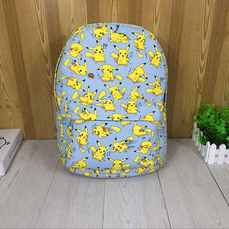 anime Pokemon Go Pikachu Unisex Backpack Canvas School Bag Teenagers Cartoon Shoulder Rucksack Travel Bags Mochila 5 Styles japan pokemon harajuku cartoon backpack pocket monsters pikachu 3d yellow cosplay schoolbags mochila school book bag with ears