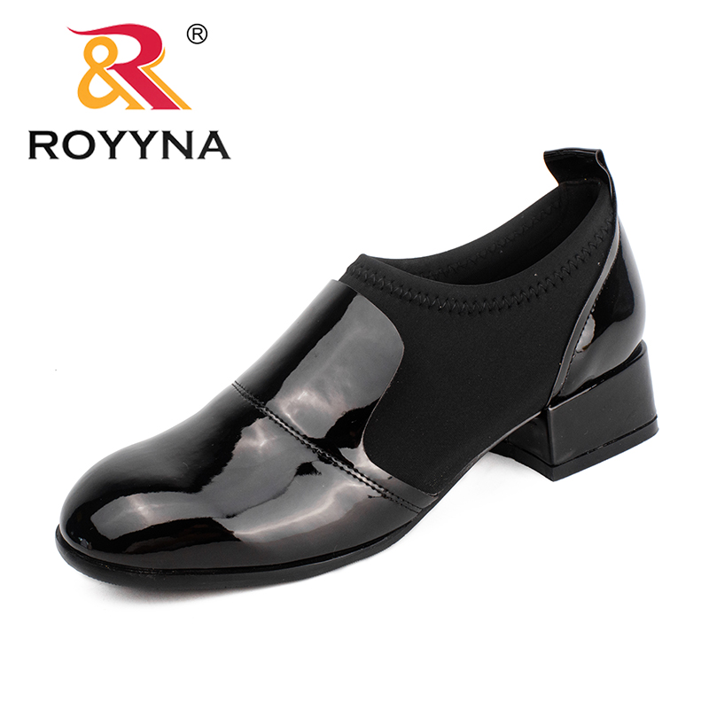 ROYYNA New Leisure Style Women Pumps Square Toe Women Dress Shoes Thick Heels Lady Wedding Shoes Comfortable Fast Free Shipping royyna new sweet style women sandals cover heel summer gingham women shoes casual gladiator ladies shoes soft fast free shipping