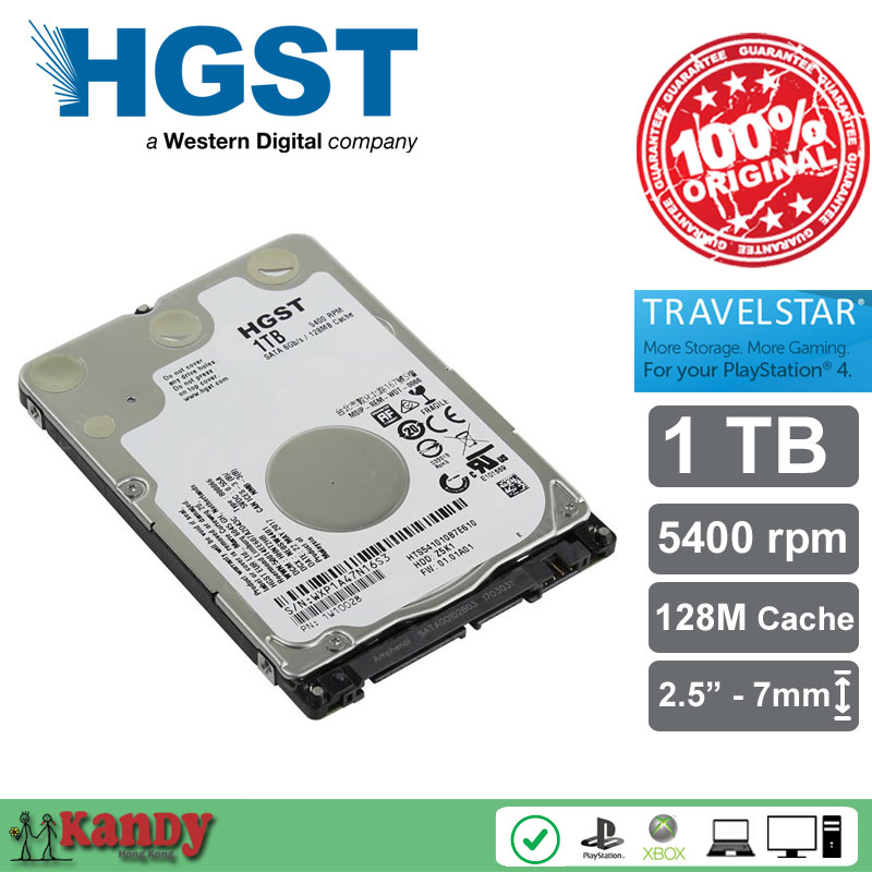 HGST Travelstar 1TB hdd 2 5 HTS541010B7E610 SATA 3 laptop internal sabit hard disk drive interno
