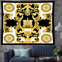 Court style retro Deconstruction angle boho home decor  gold macrame Tapestries Retro Vintage personality Wall Hanging