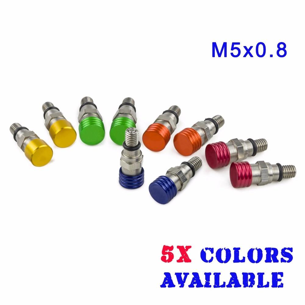 NICECNC M5x0.8 Вилка воздухоотводчик предохранительный клапан для Кавасаки КХ 125 250 KX250F KX450F KLX450R Ямаха ЮЗ 125 250 YZ450F водонепроницаемые