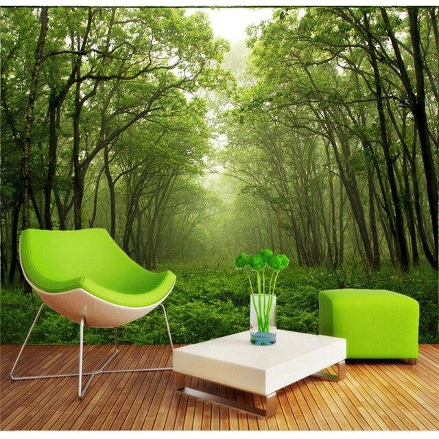 Benutzerdefinierten Hintergrund Fototapete Wald Grün Verlängerung ...