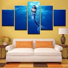 Sea Print Underwater Mermaid Canvas Painting Prints Bedroom Home Decoration Artwork Modern Wall HD Art Posters