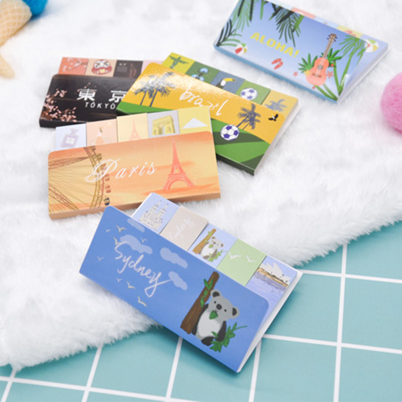 20 pcsLot index travel sticky note cute Hawaii post memo pad Planner marker it tag sticker Office School supplies DM185