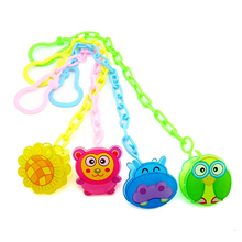 New Baby Pacifier Clip Chain 1PC Clips Newborn Animal Dummy Nipple Holder Teether Anti-drop Rope