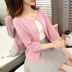 2019spring autumn new seven sleeves, cardigan women's shawls  short sleeves sweater sleeves  sweater jackets.