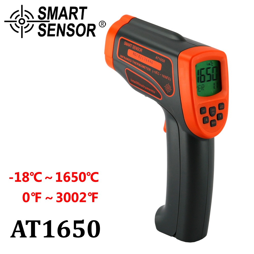 Infrared thermometer Digital thermometer laser IR non-contact temperature Gun tester meter -18-1650 C electronic pyrometer t010 new digital temperature meter tester mastech ms6520a laser pointer non contact infrared ir thermometer free shipping