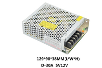 Free Shipping Output Voltage 5V 12V AC DC D 30A 30W Dual Output Switching power supply from maker electric