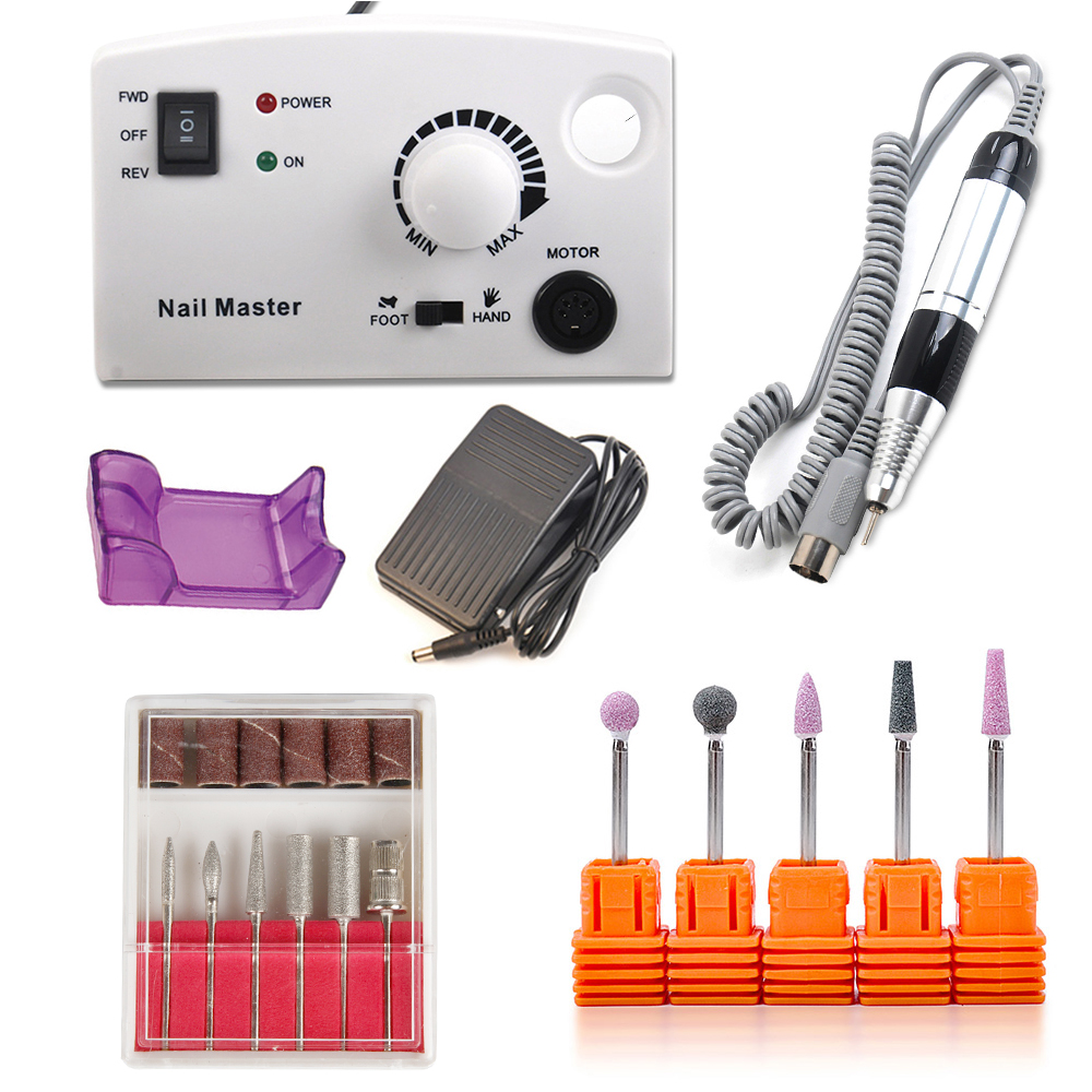Electric Apparatus for Manicure 12PCS Milling Drill Bits Gel Cuticle Remover Set Polishing Cutter Nail 25000RPM Pedicure Machine original motherboard msi h81m pro vd lga 1150 ddr3 h81 socket lga 1150 i3 i5 i7 ddr3 16g sata3 usb3 0 micro atx free shipping