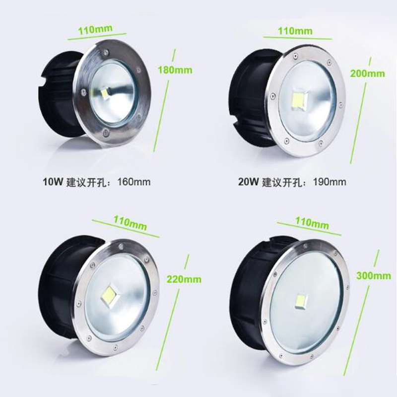 10pcs/lot High quality Outdoor Lighting 20W COB LED underground light, Waterproof IP67 12v 24v or  AC85-265V free shipping ip68 10w 20w 30w 50w led cob underground light cob inground light diameter 250mm ac85 265v led outdoor lamp