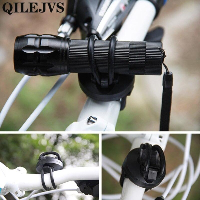 360 Rotation Cycling Bicycle Bike Flashlight LED Torch Bracket Mount Holder G