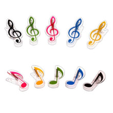 лучшая цена Mater John Music Note Treble Clef Acrylic Book Spring Clip Holder For Piano Guitar Violin Viola Cello Performance Practice
