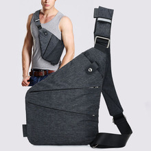 High Quality Mens Chest Bag Casual Travel Anti-theft Shoulder Saffiano Leather Cover Belt Digital Storage Pocket