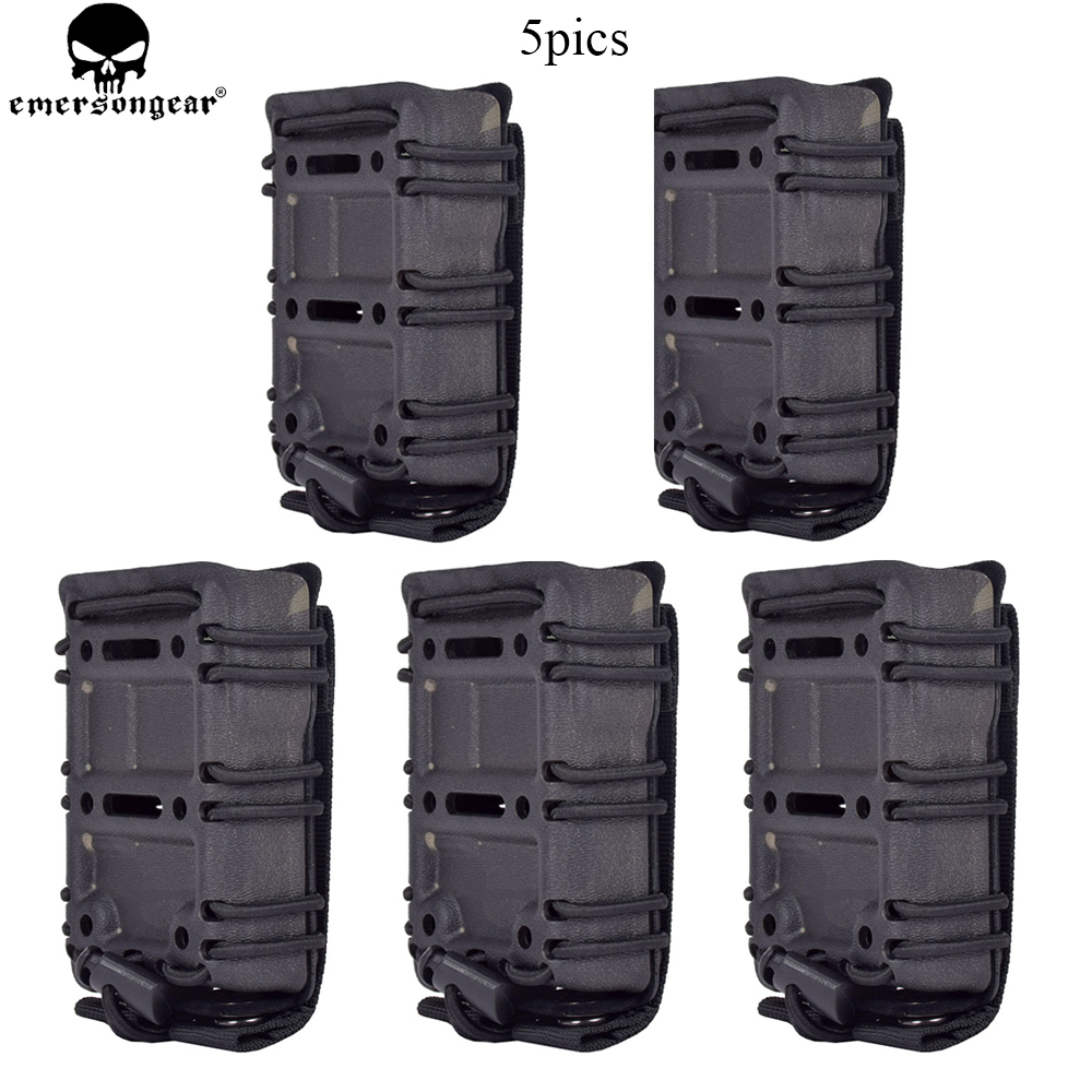 EMERSON 5.56mm Magazine Pouch M4 AR15 556 5.56 223 Tactical MOLLE Scorpion Adjustable Holster Mag Carrier Case Multicam Balck universal waist belt bag pouch outdoor tactical holster military molle hip purse phone case