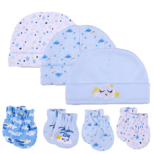 Белые хлопковые шапки унисекс для новорожденных мальчиков и девочек, детские шапки, перчатки, головные уборы, милые детские аксессуары для сна