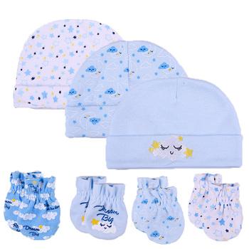 2019 Unisex bawełna biały nowonarodzone chłopcy dziewczęta czapki dla dzieci rękawiczki nakrycia głowy wyposażone dziecko śliczne akcesoria dla dzieci Nightcap Sleep tanie i dobre opinie COTTON HPGM Cartoon 8 5cm*6cm kiddiezoom 2018 hats gloves 100 cotton 0-6 Months