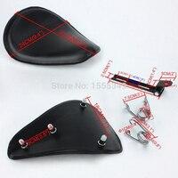 Motorcycle Softail Solo Seat 12 Black Bracket 3 1 Torsion Springs For Honda Yamaha Harley Sportster