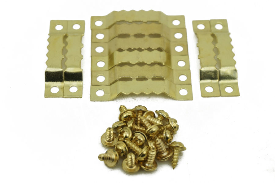 100pcslot saw tooth hanging bracket clock picture frame hook painting mirror hangerchina