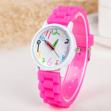 Women Watches hot brand Casual Fashion 10 Colors jelly Pencil Cartoon Watch Silicone quartz watch relogio feminino C