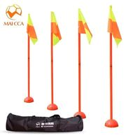MAICCA bandiere di Calcio per arbitro Portatile pieghevole con borsa per il trasporto marker Angolo bastone arbitro di Calcio bandiere all'ingrosso 4 pz pack