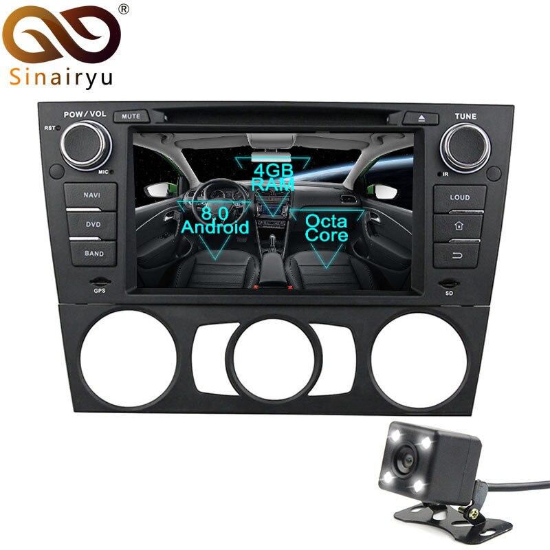 Lecteur DVD de voiture Sinairyu 1 Din Android 8.0 pour BMW E90 E91 Touring E92 coupé E93 Cabriolet GPS unité de tête stéréo Radio multimédia