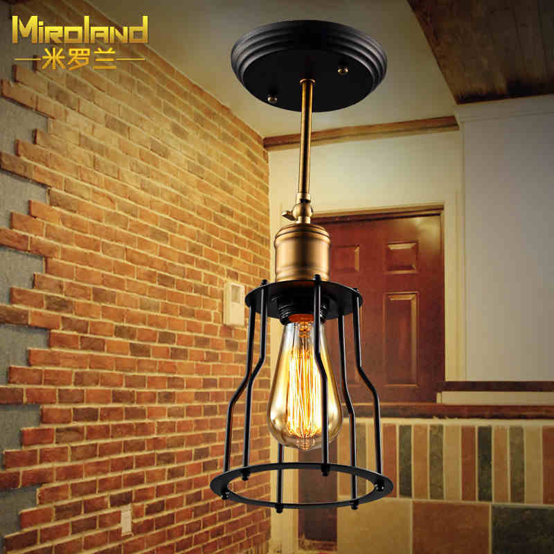 ФОТО Small iron ceiling lamps American country industrial wind retro LED lamp balcony aisle porch lamp