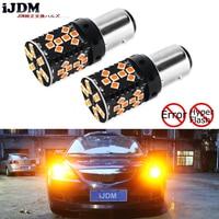 IJDM Canbus 1157 LED Nie Hyper Flash 21 W Amber żółty P21/5 W BAY15d Żarówki LED Dla Kolei Światła sygnalizacyjne, Światła Do jazdy dziennej