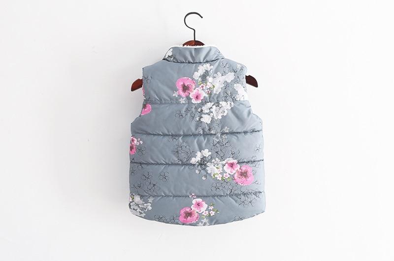 e8c718e70 Girls Vest Baby Thick Fleece Kids Waistcoat Chinese Style Winter ...