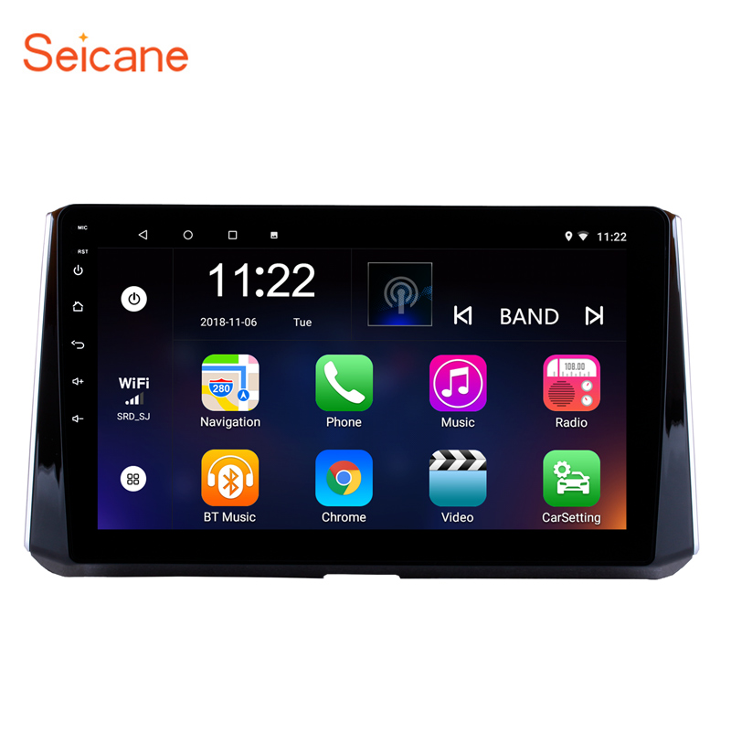 Seicane 10.1 inch Android 8.1 Car Radio GPS For <font><b>2019</b></font> <font><b>Toyota</b></font> <font><b>Corolla</b></font> GPS Navi Wifi <font><b>Multimedia</b></font> Player Head Unit Auto Stereo image