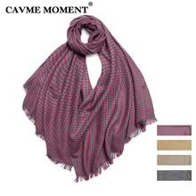 CAVME Plaid Wool Scarf for Women Ladies Winter Warm Woolen Scarves Swallow Gird Wraps Shawl 140g 70*200cm CUSTOM Letters