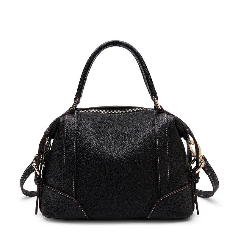 Leder Qualität Luxus Für Mode Tasche Weibliche Taschen Hohe Schulter Echtes light Brown Black Messenger Crossbody Handtaschen Frauen 2018 dnYw78Eq