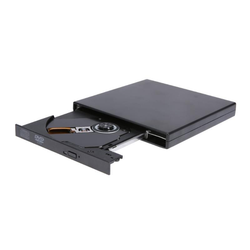 Portable Ultra-Mince USB2.0 Port Externe lecteur Optique DVD-ROM Pilote de Disque CD/DVD-RW Graveur Lecteur pour Ordinateur Portable