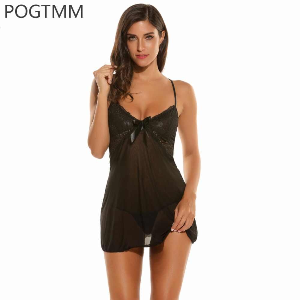 de9392f4237 Detail Feedback Questions about Women Underwear Lingerie Sexy Hot Erotic Sleepwear  Transparent Babydoll Lace Sex Night Sleep Wear Nightgown Porn Clothes ...