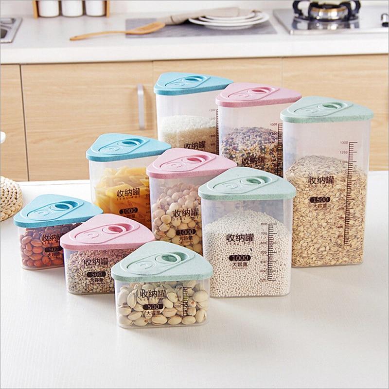 Container Sorting Food-Storage-Box Plastic Insurance-Storage Kitchen-Seal Grains Crisper