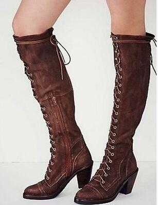 Popular Heel Tall Boots Lace up-Buy Cheap Heel Tall Boots Lace up ...