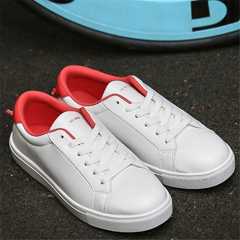 Män skor mode fritidskor par skor vita skor spetsar upp Unisex stora varv jeans feminino calzado deportivo zapatos mujer