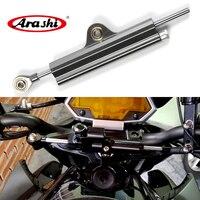 Arashi CNC Steering Damper Stabilizer For SUZUKI GSXR 600 750 1000 GSR750 VERSY For KAWASAKI ZX10R ZX14R Universal 6 Colors