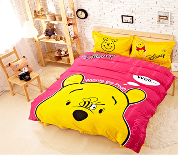 Comforter Bedding Sets 100 Cotton Duvet Cover Twin Size Kid Bed Set Winnie The Pooh In From Home Garden On Aliexpress