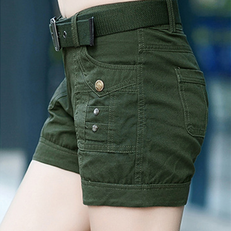 BabYoung Workout Shorts Women Shorts Army Green Military Camouflage - Women's Clothing - Photo 2