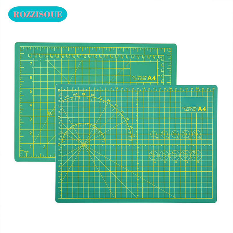 Professional A4 Sewing Cutting Mats Double-sided Plate Design Engraving PVC Cutting Board Mat Patchwork Mat Pad Hand Tools 3pcs