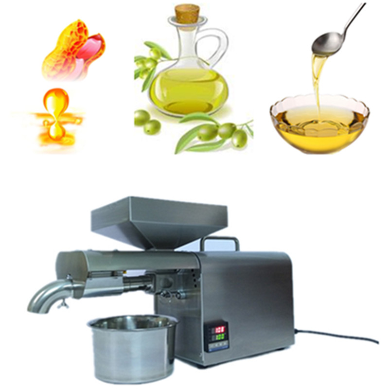 Home use coconut oil presser 304 stainless steel cold hot oil press machine peanut sesame oil maker 220v/110v 7 pcs set woodworking oscillating multitool saw blade for multimaster renovator power tool cutting hand tools free shipping