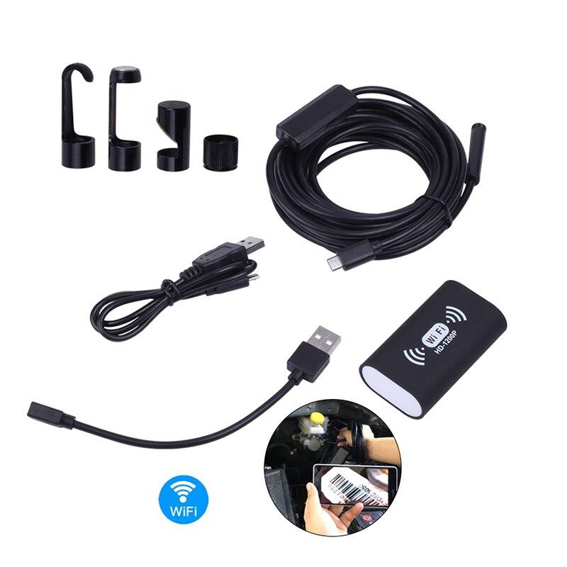 2018 8 MM 1200 P HD Caméra Wifi Micro Endoscope Android Étanche MIni Caméscope Moteur Endoscope pour 8 LED Support Xiaomi MI IOS