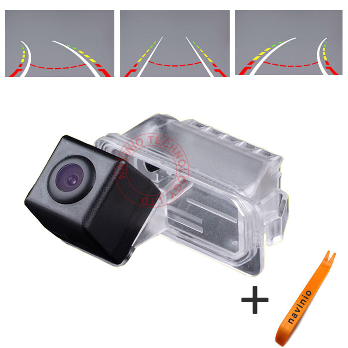 CCD car rear view track Camera backup reversing Trajecctory parking For Ford Fiesta S-Max Kuga Mondeo BA7 Focus Facelift C307 ccd car reverse camera for ssangyong rexton kyron backup rear review reversing parking kit waterproof nightvision free shipping