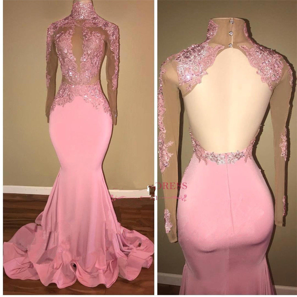 Pink Beads Pageant Customize Pink Applique   Bridesmaid     dress