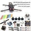 DIY FPV mini drone QAV250 quadcopter kit D2204 + Red Hawk BL12A ESC OPTO + NAZE32 10DOF + 700TVL camera + Video goggles + FS-I6S