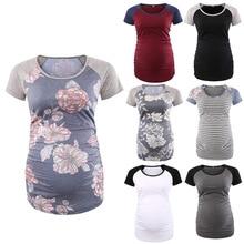 Buy Pregnant women round neck raglan sleeves ruffled pregnant women T-shirt tops pregnant women shirt directly from merchant!