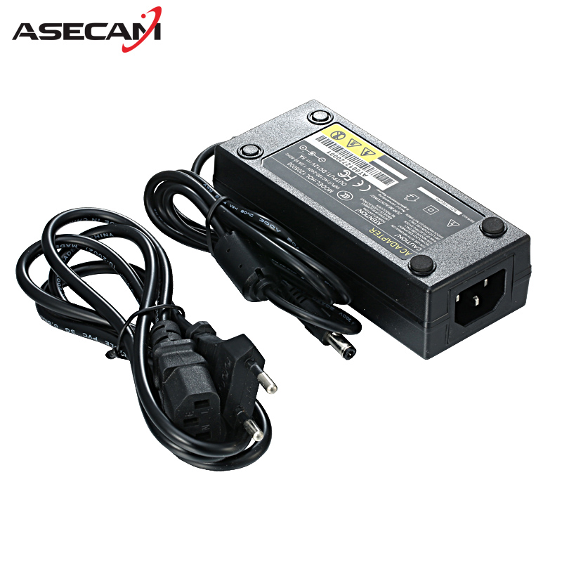 High quality Enough DC 12V 5A Power Supply for CCTV Security Camera system Converter EU US AU UK Standard Plug Adapter new dc 12v 2a ac 100 240v eu us uk au dc adapter charger power supply for led strip light cctv 2 5 5 5mm for dvr camera systems