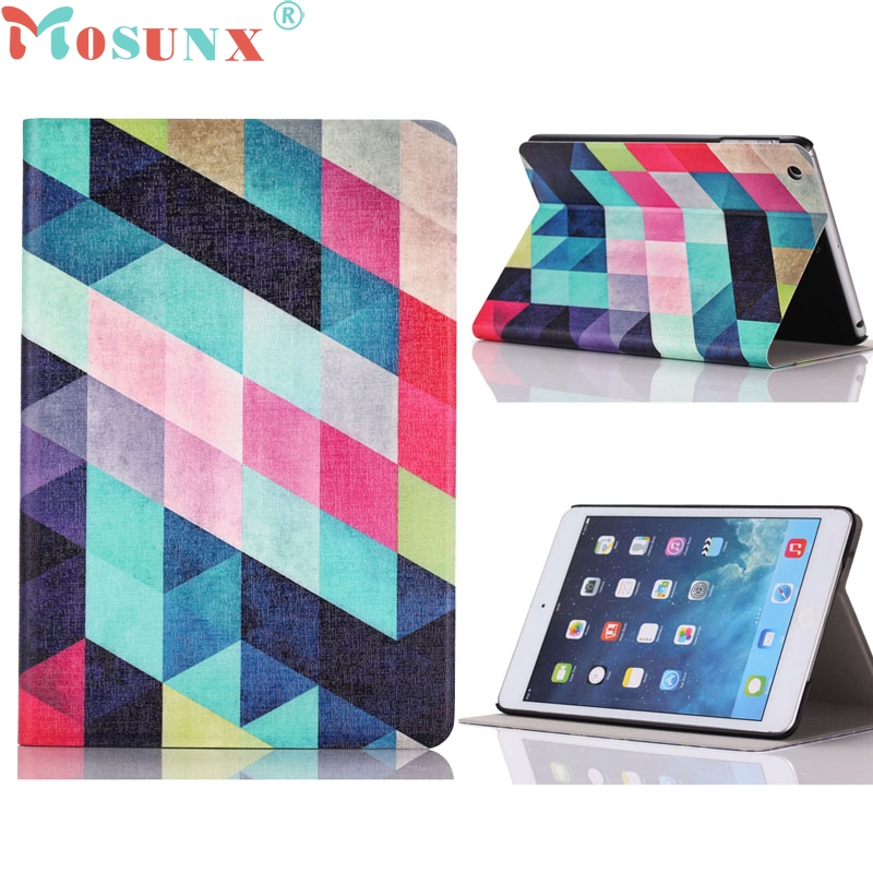 Top Quality New Arrival Colored Squares Flip Stand Leather Case Cover For iPad Mini 1 2 3 Retina JUN 23 luxberry squares