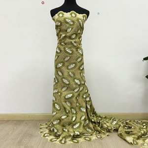 Image 5 - High Quality Swiss Voile Lace army green olive 2019 latest African Lace Cotton lace Fabric for wedding dress 5yards 062