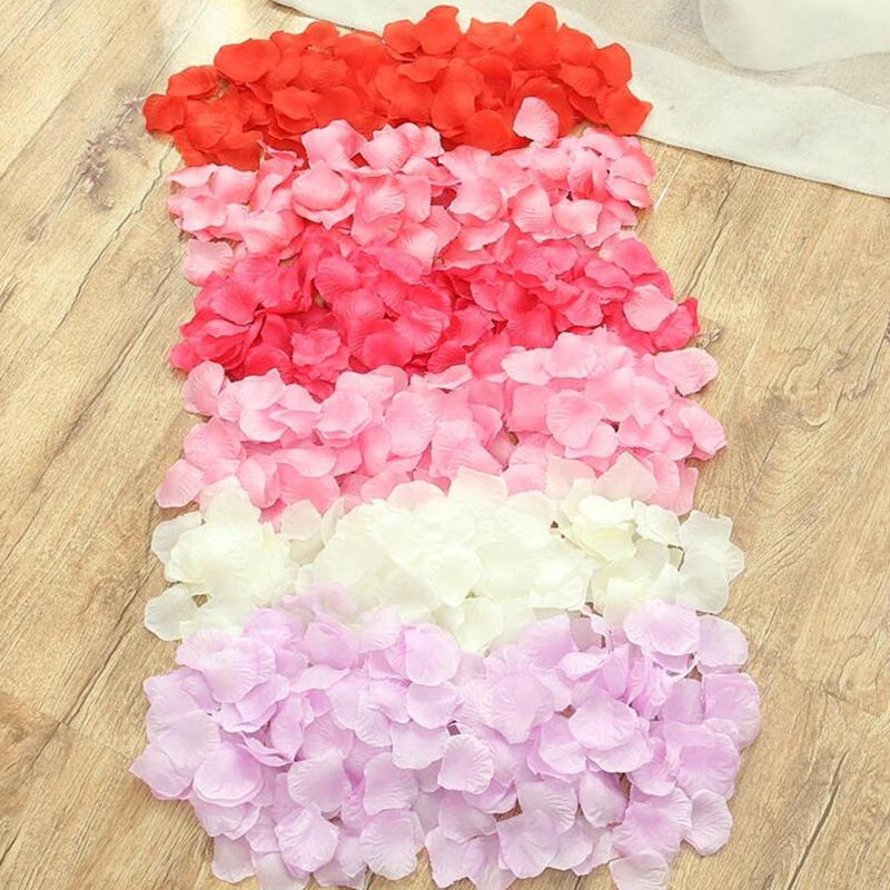 100pcs Silk Rose Petal Wedding Party Festive Decoration Flowers Crafts Artificial Flower Clothing Hat Decorative Accessories